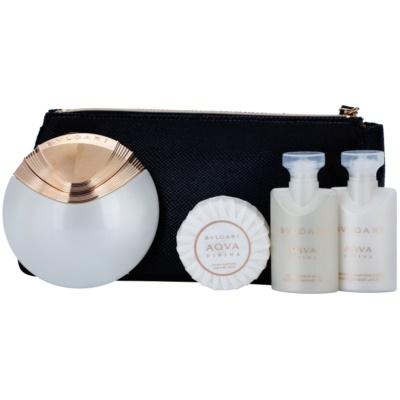 Bvlgari AQVA Divina coffret cadeau III.  eau de toilette 65 ml + savon 50 g + gel de douche 40 ml + lait corporel 40 ml + trousse de maquillage