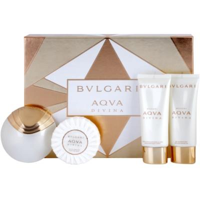 Bvlgari AQVA Divina confezione regalo IV  eau de toilette 65 ml + gel doccia 100 ml + latte corpo 100 ml + sapone 150 g