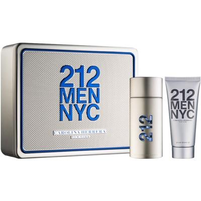 Carolina Herrera 212 NYC Men Gift Set V.  Eau De Toilette 100 ml + Shower Gel 100 ml