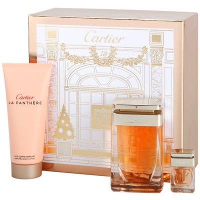Cartier La Panthere Geschenkset II. Eau de Parfum 75 ml + Körperlotion 100 ml + Eau de Parfum 6 ml