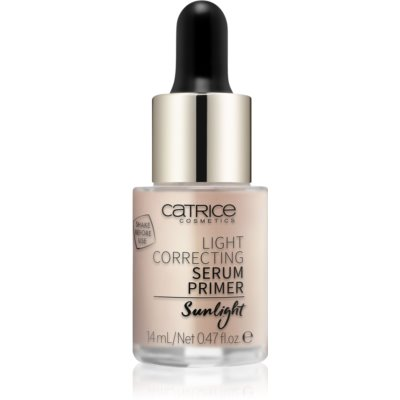 Catrice Light Correcting sérum base de maquillage aux paillettes dorées