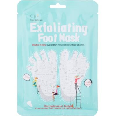 exfoliační maska na popraskaná chodidla + ponožky
