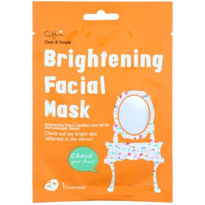 plátýnková maska s rozjasňujícím účinkem