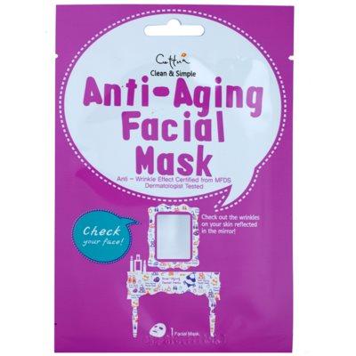 plátýnková maska s protivráskovým účinkem