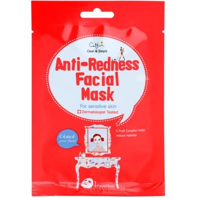 plátýnková maska pro citlivou pleť se sklonem ke zčervenání