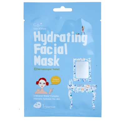 plátýnková maska s vysoce hydratačním a vyživujícím účinkem