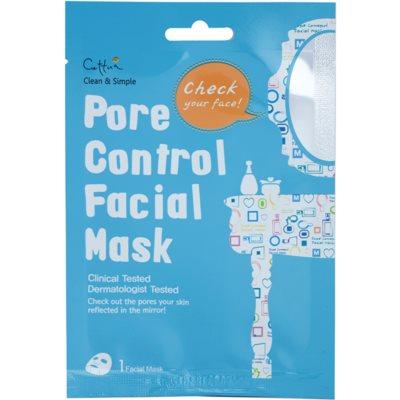 maska iz platna za zmanjšanje por in mat videz kože