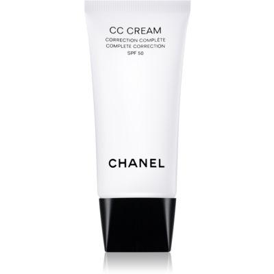 Chanel CC Cream уеднаквяващ крем SPF 50
