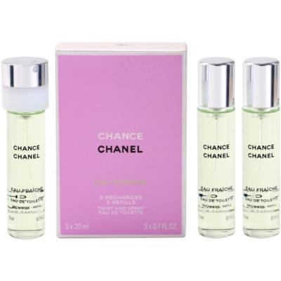 Chanel Chance Eau Fraîche toaletní voda pro ženy  (3 x náplň)