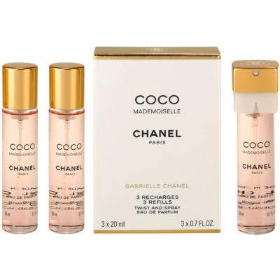 Chanel Coco Mademoiselle Eau de Parfum for Women  (3x Refill)