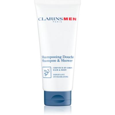Clarins Men Wash champú refrescante para cuerpo y cabello