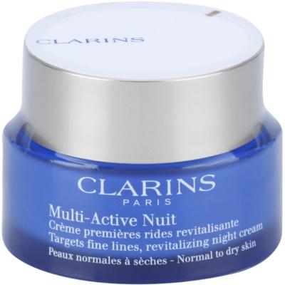 crema de noche revitalizante para suavizar las líneas de expresión para pieles normales y secas
