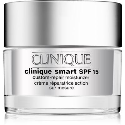 Clinique Clinique Smart creme hidratante diário antirrugas para a pele seca e mista SPF15