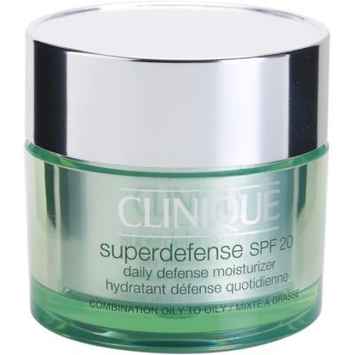Clinique Superdefense™ hydratisierende und schützende Tagescreme für fettige und Mischhaut