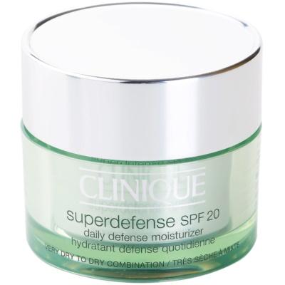 Clinique Superdefense™ ενυδατική και προστατευτική κρέμα ημέρας SPF 20