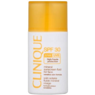 mineralni fluid za sončenje za obraz SPF 30