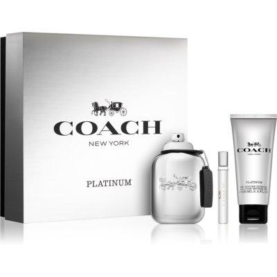 Coach Platinum coffret I. Eau de Parfum 100 ml + gel de duche 100 ml + Eau de Parfum 7,5 ml