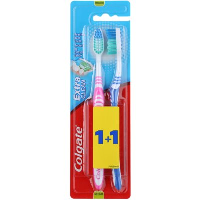 Colgate Extra Clean Medium Toothbrushes 2 pcs