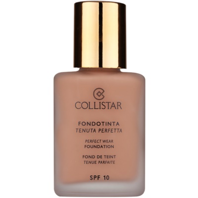 Collistar Foundation Perfect Wear fard lichid rezistent la apa SPF 10