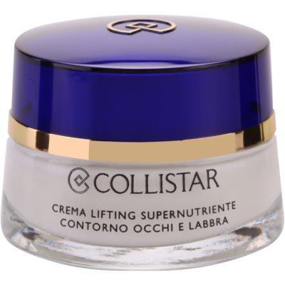 crema nutritiva con efecto lifting para contorno de ojos y labios