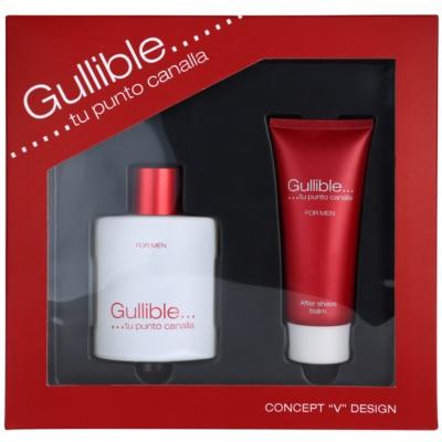 Concept V Gullible подаръчен комплект I. тоалетна вода 100 ml + балсам след бръснене 100 ml