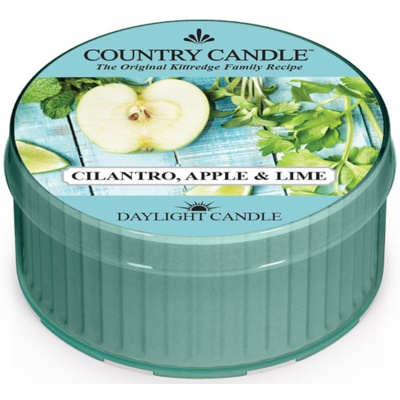 Country Candle Cilantro, Apple & Lime vela do chá