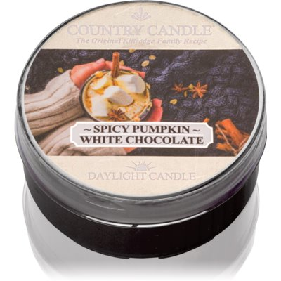 Country Candle Spicy Pumpkin White Chocolate Tealight Candle