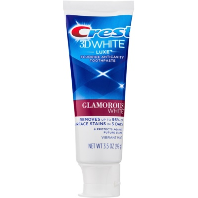 Crest 3D White Luxe Glamorous White Whitening Toothpaste with Fluoride