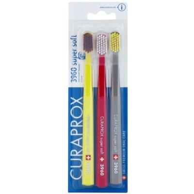 Curaprox 3960 Super Soft zubní kartáčky 3 ks