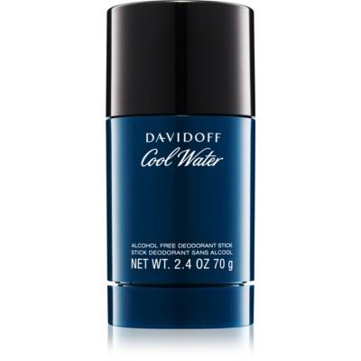 Davidoff Cool Water desodorizante em stick para homens 70 g (sem álcool)