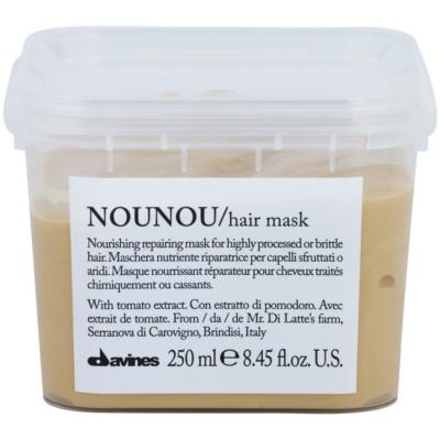 Davines NouNou máscara nutritiva para cabelos danificados e quimicamente tratados