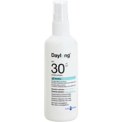 zaščitni gel-pršilo za mastno občutljivo kožo SPF 30