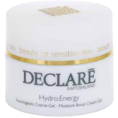 crema hidratante con textura de gel para tensar la piel