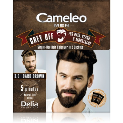 Delia Cosmetics Cameleo Men Single-Use Dye for Immediate Coverage of Grey