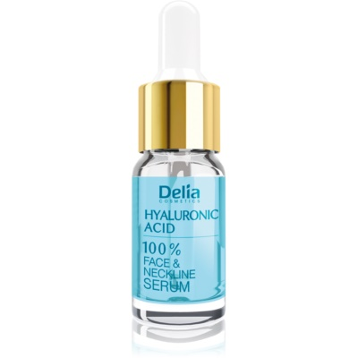 Delia Cosmetics Professional Face Care Hyaluronic Acid Intensief Vullend en Anti-Rimpel Serum met Hyaluronzoor voor Gezicht, Hals en Decolleté