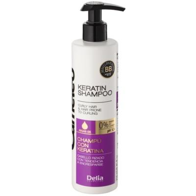 кератиновий шампунь для кучерявого волосся