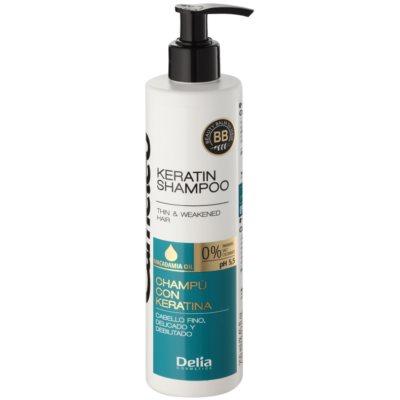 кератиновий шампунь для тонкого та ослабленого волосся