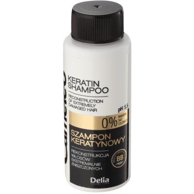 keratinový šampon pro poškozené vlasy