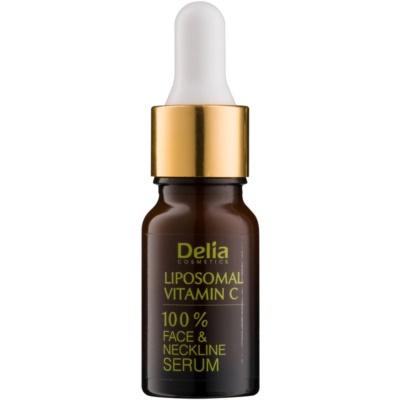 Delia Cosmetics Professional Face Care Vitamin C озаряващ серум с витамин С за лице, врат и деколкте