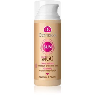 Dermacol Sun Water Resistant тониращ водоустойчив флуид за лице SPF 50