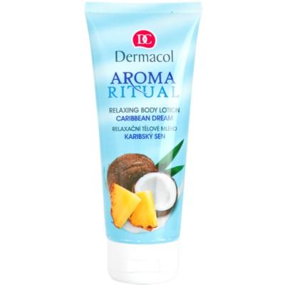 leite corporal relaxante com óleo de coco