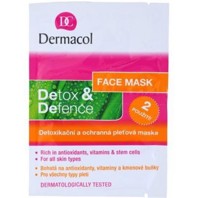 detoxikační a ochranná pleťová maska pro všechny typy pleti