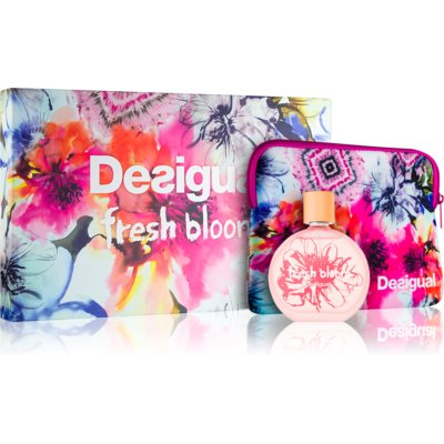 Desigual Fresh Bloom dárková sada II.  toaletní voda 100 ml + taštička 1 ks