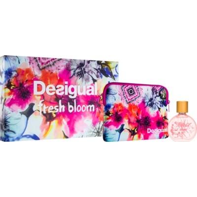 Desigual Fresh Bloom coffret cadeau  eau de toilette spray 50 ml + petit sac 1
