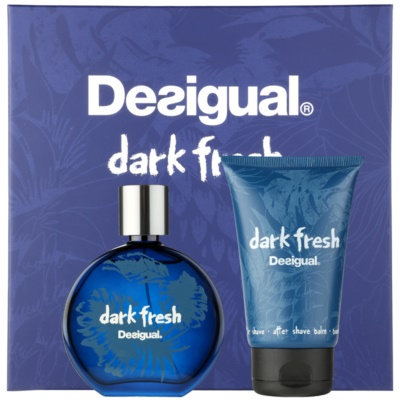 Desigual Dark Fresh dárková sada I.  toaletní voda 100 ml + balzám po holení 100 ml