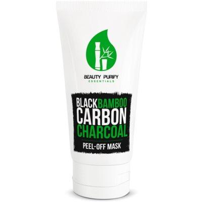 маска-пілінг з вмістом чорного бамбукового вугілля