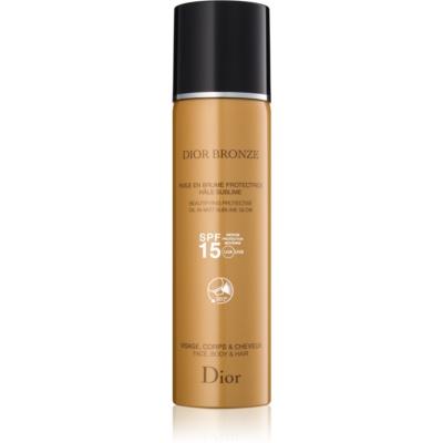 Dior Dior Bronze універсальна олійка для засмаги для тіла та волосся у формі спрею