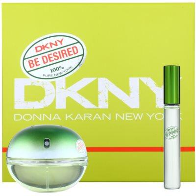 DKNY Be Desired zestaw upominkowy II. woda perfumowana 50 ml + roll-on 10 ml