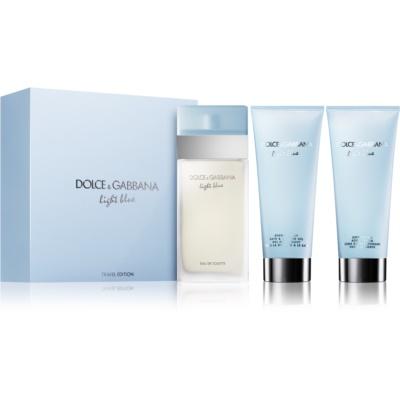 Dolce & Gabbana Light Blue darilni set XII.  toaletna voda 100 ml + gel za prhanje 100 ml + krema za telo 100 ml