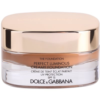 Dolce & Gabbana The Foundation Perfect Luminous Creamy Foundation posvetlitveni kremasti tekoči puder SPF 15